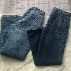 2 pair of Old Navy Boys 18 husky jeans bundle lot